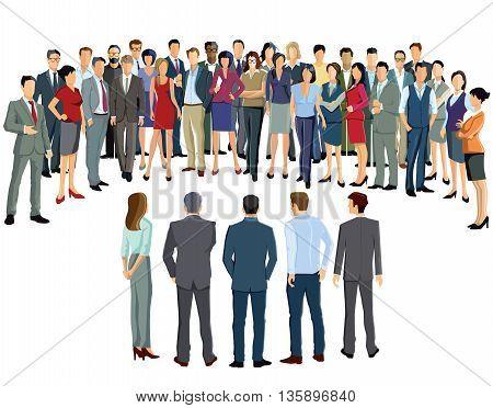 Business meeting participants, convention, colleague, coworker, businessman