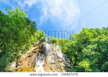 Waterfall in a forest near Daruvar, Croatia