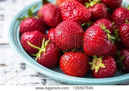 Fresh ripe perfect strawberry. Organic tasty strawberry