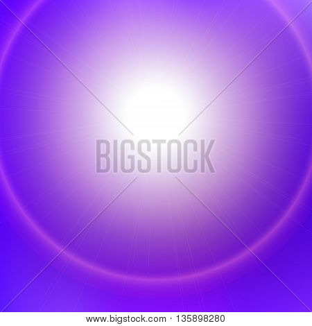 Abstract vector background with blurred lights and white space for text. Bright blue and purple colors. Design element for booklet, flyer, advertising, brochure, banner