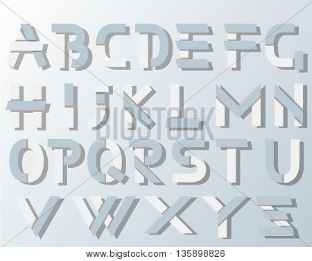 VECTOR ORIGAMI ALPHABET STYLE WITH SHADOWS for web and other