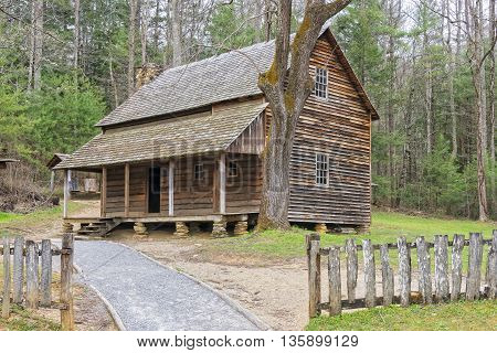 The Henry Whitehead Cabin at Cade's Cove Great Smoky Mountains National Park Tennessee