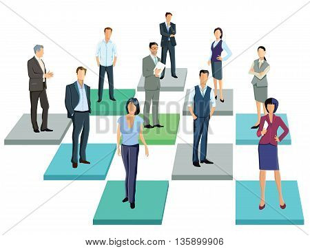 Together, Business contacts, people group, businesspeople, personal,