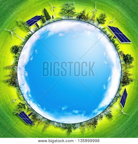 abstract eco backgrounds. alternative energy and power concept for your design, not 3D rendered