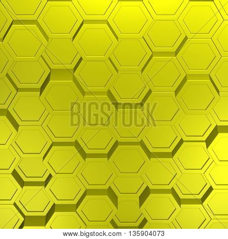 Yellow abstarct background. Full frame. 3D rendering.