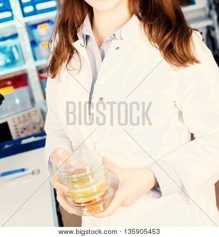 food quality control. Toned image