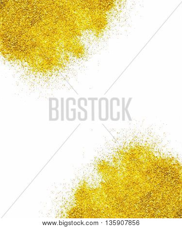 Golden glitter for a holiday and glamour background