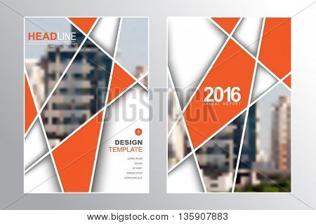 Two A4 size, abstract intersecting lines elements marketing business corporate design template. eps10 vector