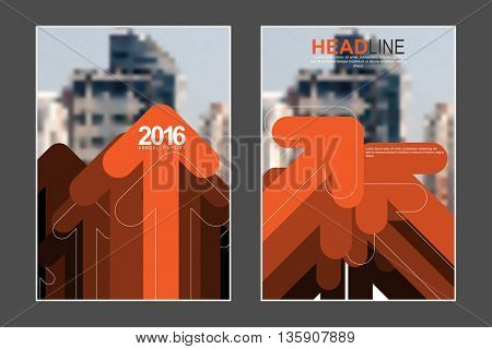 Two A4 size, abstract overlapping arrows elements marketing business corporate design template. eps10 vector