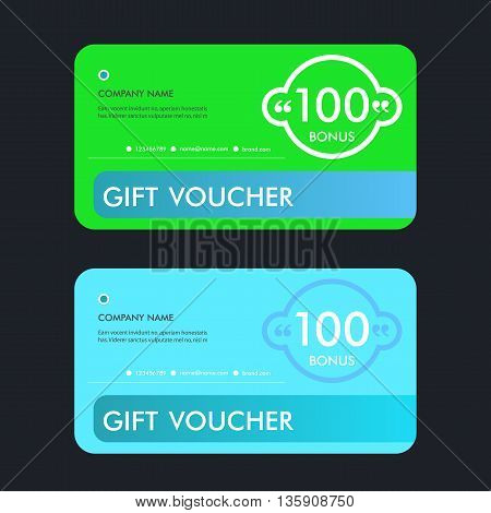 Vector illustration, Gift voucher template with abstract pattern.