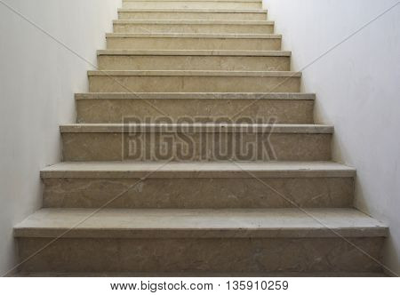 a stone staircase in the building, architectural detail, moving forward