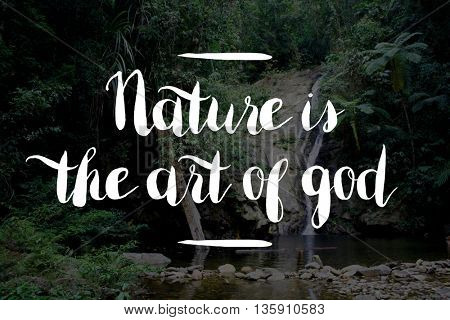 Nature is God