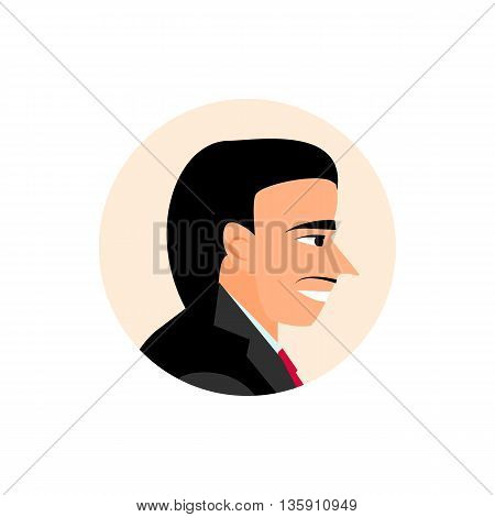 Avatar businessmen in the style of cartoons. flat icons people.