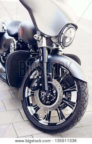 details of a classic motorcycle, vintage, vehicle
