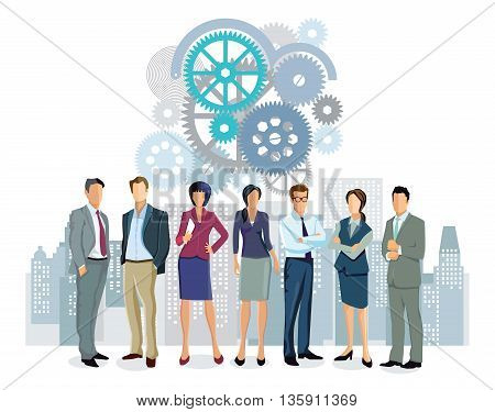 Personal cooperation, business, partnership, successful office group