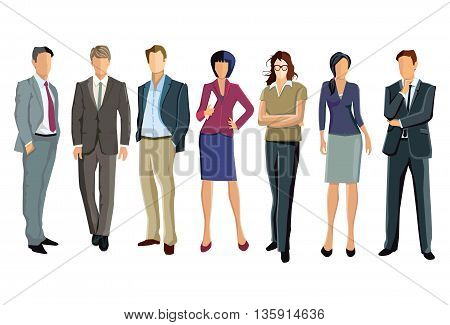 a group of businessmen and businesswomen illustration