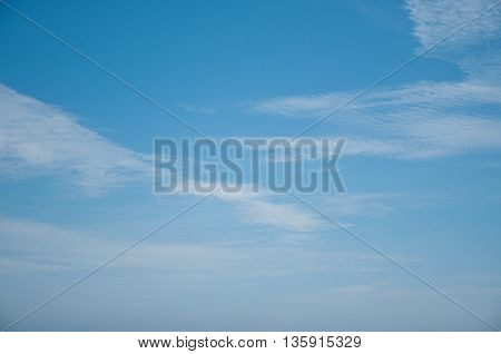 fantastic and very white clouds in a beautiful blue sky