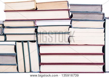 Lots of books arranged as background