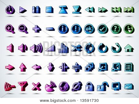 Vector 3D Icons Design