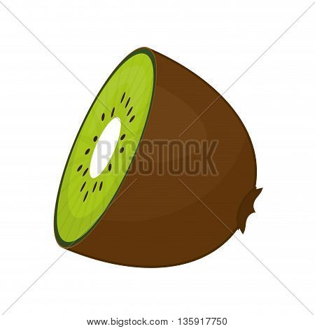 Organic and Healthy food concept represented by kiwi fruit icon. isolated and flat illustration