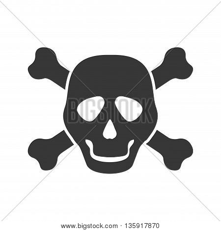 Death concept represented by skull icon. isolated and flat illustration