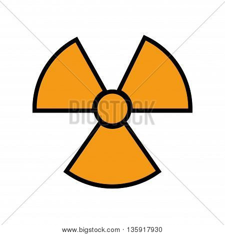 Industry concept represented by biohazard icon. isolated and flat illustration