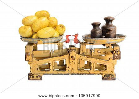 Potatoes On Old Scales