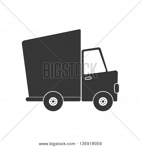 Delivery and Shipping concept represented by truck icon. isolated and flat illustration