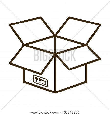 Delivery and Shipping concept represented by package icon. isolated and flat illustration