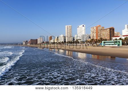 Golden Mile City Skyline In Durban South Africa