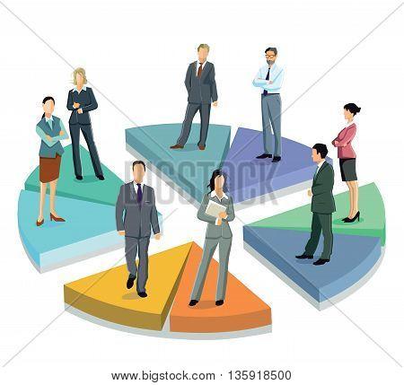 Business Statistic,  symbol chart, partnership, concept  information