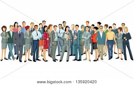 Business employees and colleagues,  difference people, businessmen
