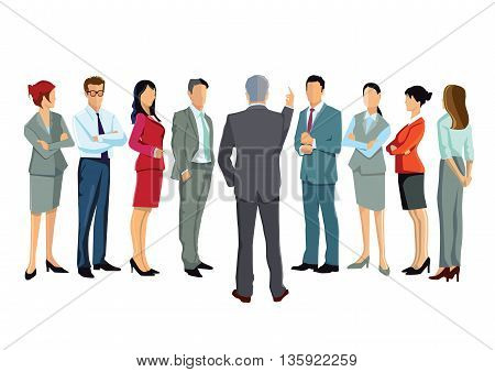 Consulting, lecture, people, society, team, illustration, strategy,