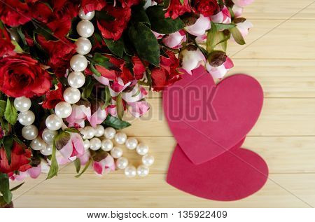 Holiday concept with flowers and copyspace