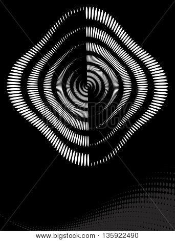 Background Composition, Web Template (Halftone) Vector Illustration
