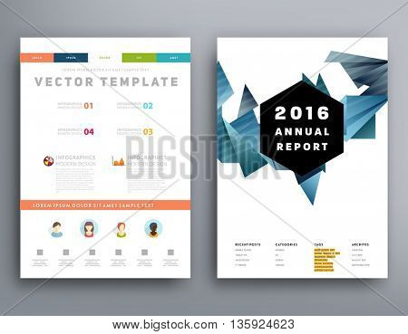 Abstract Background. Geometric Shapes and Frames for Presentation, Annual Reports, Flyers, Brochures, Leaflets, Posters and Document Cover Pages Design. A4 Title Sheet Template