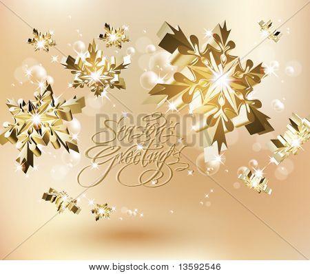Vector Shinny Snowflakes