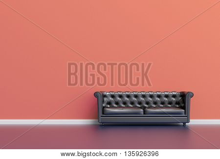 3D Living Room Illustration