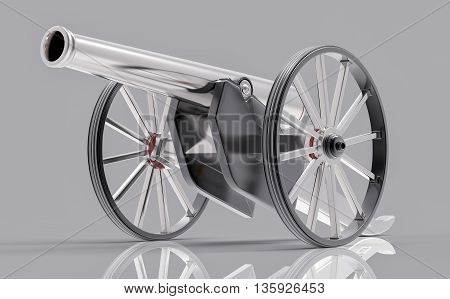 Idolated 3D Old Canon Illustration
