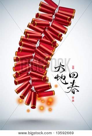 Vector 3D Fire Cracker of Chinese New Year