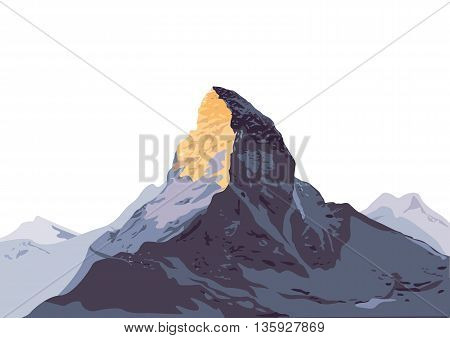 mountain, mountain hiking, Climbing, Trekking, Mountaineering, illustration