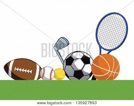 sporting equipment, sports, ball, soccer, golf, tennis, racket, basketball, golfing
