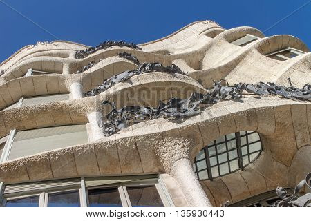 La Pedrera Famous building designed by Antoni Gaudi and is one of the most visited in the city.