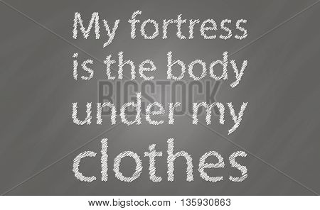 Art designed poster in grey and white with inspirational slogan for spots and healthy life. Poster on scratched background. Vector art.