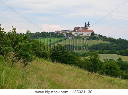 Church in the village of Maria Taferl Wachau region Austria