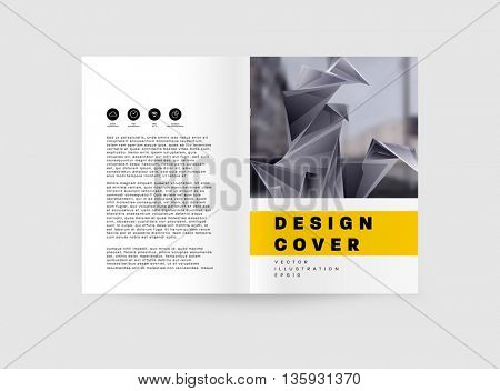 Abstract Background. Geometric Shapes and Frames for Presentation, Annual Reports, Flyers, Brochures, Leaflets, Posters, and Document Cover Pages Design. A4 Title Sheet Template