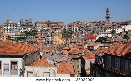 Porto Portugal - july 10 2010 : the historical city center