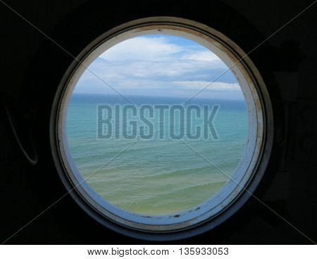Views from the inside of Big Sable Point Lighthouse in Ludington State Park, Illinois