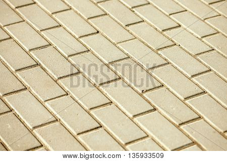 Beige Brick Rectangular Paving Stones