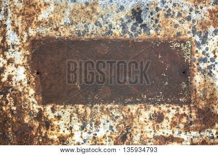 Old metal texture with rust, metal corroded texture
